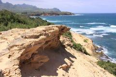 Cliffside ocean view. Of waves breaking Royalty Free Stock Image