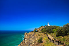 Cliffside Pathway up to Byron Bay Lighthouse Royalty Free Stock Photography