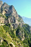 Cliffside road in Amalfi coast Royalty Free Stock Photo