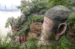 Cliffside stairs beside Leshan Grand Buddha Stock Image
