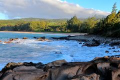 Cliffside View on the Island of Maui royalty free stock photography