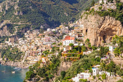 Cliff side village of Positano Royalty Free Stock Images