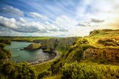 Clifftop de Irlanda del Norte Imágenes de archivo libres de regalías