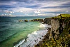 Clifftop de Irlanda del Norte Fotos de archivo libres de regalías