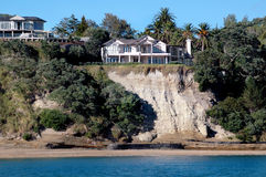 Clifftop Homes. Exclusive house above cliff/ ocean stock photo