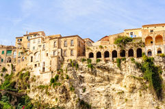 Clifftop Houses - Tropea Royalty Free Stock Image