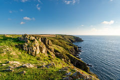 Clifftops above Mullion Cove Stock Image