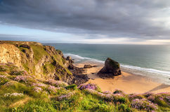 Clifftops at Bedruthan Royalty Free Stock Photo