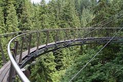Cliffwalk. Over Capilano River in Capilano Suspension Bridge Park. Vancouver. Canada Stock Photos
