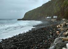 Cliffy coastal scenery at the Azores Stock Photography