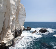 Clifs do hanikra de Rosh em Israel norte Fotografia de Stock Royalty Free