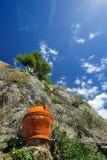 Clifs e vaso in Cinque Terre Immagini Stock Libere da Diritti
