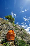 Clifs and pot in Cinque Terre Royalty Free Stock Images