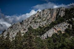Clifs At River Krka Canyon Royalty Free Stock Images
