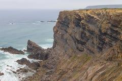 Clifs w Cabo De Sao Vincente Fotografia Royalty Free