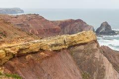 Clifs w Cabo De Sao Vincente Zdjęcia Stock