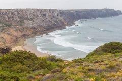 Clifs w Cabo De Sao Vincente Obrazy Stock