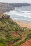 Clifs w Cabo De Sao Vincente Fotografia Stock