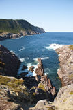 The Clift. Atlantic Coastline showing Rugged Cliff Face in Bright Sun Royalty Free Stock Photos
