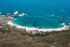 Clifton海滩的图象从狮子题头的 图库摄影