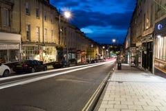 Clifton, Ansicht von der Spitze der Park-Straße bis zum Nacht Stockfoto