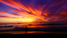 Clifton Beach Sunset. This is what a sunset in Camps Bay looks like. A real mix of colours Royalty Free Stock Photo