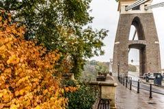 Clifton bridge in autumn, Bristol Royalty Free Stock Image