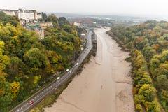 Clifton bro i höst, Bristol Royaltyfria Bilder