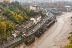 Clifton bro i höst, Bristol Royaltyfria Foton