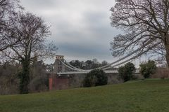 Clifton-Hängebrücke über dem Fluss Avon stockfotografie