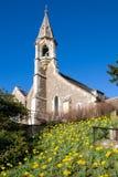 CLIFTON HAMPDEN, OXFORDSHIRE/UK - 25 MARZO: Vista della chiesa Fotografia Stock Libera da Diritti