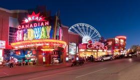 Clifton Hill, Niagara Falls, Ontário, Canadá Fotografia de Stock Royalty Free