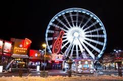 Clifton Hill by night,Niagara Falls Stock Photos