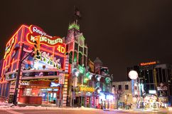 Clifton Hill nightlife,Niagara Falls Royalty Free Stock Photo