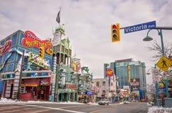 Clifton Hill uteliv, Niagara Falls Fotografering för Bildbyråer