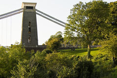 Clifton Suspension Bridge. Scenic view of Clifton Suspension Bridge, Bristol and Somerset, England Royalty Free Stock Image