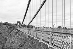 Clifton Suspension Bridge. Designed by Isambard Kingdom Brunel, the Clifton Suspension Bridge is one of the major landmarks in Bristol and is also a well known Stock Photos