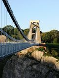 Clifton Suspension Bridge. Just before sunset in Bristol Stock Photography