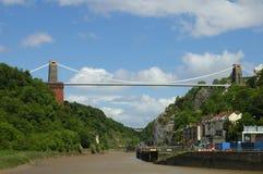 Clifton Suspension Bridge. Bristol, UK, under summer skies Stock Photography
