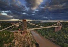 Clifton Suspension Bridge alla luce di pomeriggio Fotografie Stock