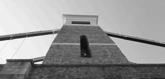 Clifton Suspension Bridge Black And White Royalty Free Stock Photography