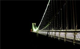 Clifton Suspension Bridge Bristol Arkivfoto