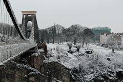 Clifton Suspension Bridge Bristol Foto de Stock