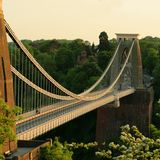 The Clifton Suspension Bridge Bristol. As the sun is waining Royalty Free Stock Photo
