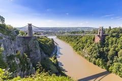 Clifton Suspension Bridge, Bristol, Avon, Inghilterra, Regno Unito Immagini Stock Libere da Diritti
