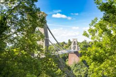 Clifton Suspension Bridge, Bristol, Avon, Inglaterra, Reino Unido Fotos de archivo