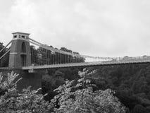 Clifton Suspension Bridge in Bristol in black and white Stock Photo