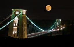 Clifton Suspension Bridge, Bristol, Großbritannien lizenzfreie stockfotografie
