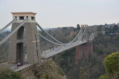 Clifton Suspension Bridge, Bristol, het UK stock afbeeldingen