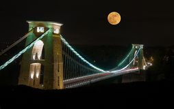 Clifton Suspension Bridge, Bristol, Reino Unido Fotografia de Stock Royalty Free